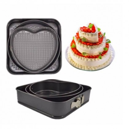 3 SETS Nonstick Cake Mould Baking Pan with removable bottom Ready Stock