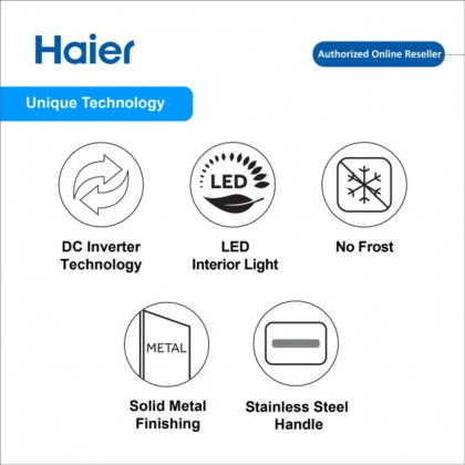 Haier Stylish 2 Door Series Inverter Refrigerator HRF-IV398H  (HRF-IV398H)