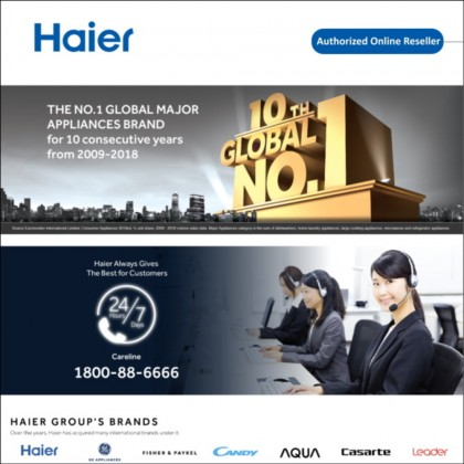 Haier (48L) Single Door Series HR-60H Refrigerator Mini Bar (HR-60H)