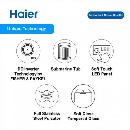 Haier (18kg) Fully Auto Top Load Submarine Series Washing Machine HWM180-M1990DD