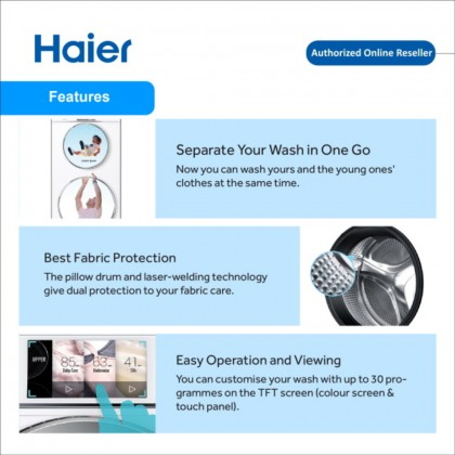 Haier (12kg) Dual Drum Washer & Dryer HWD120-B1558