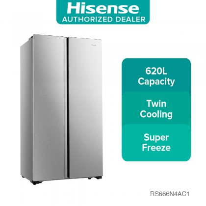 Hisense (620L) Side by Side Fridge RS666N4AC1 (RS666N4AC1)