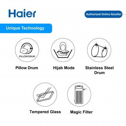 Haier (9kg) Fully Auto Washing Machine HWM90-M826 (HWM90-M826)