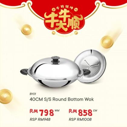 Buffalo (40CM) Round Bottom Wok BY01 *CNY Promotion RM798 (BY01)
