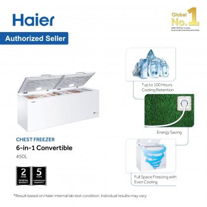 Haier (450L) Chest Freezer Convertible (Freezer <> Fridge) BD-458HP (BD-458HP)