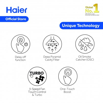 [NEW] Haier Ventilations Hoods Wall-Mounted Hood Series HH-T890 (HH-T890)