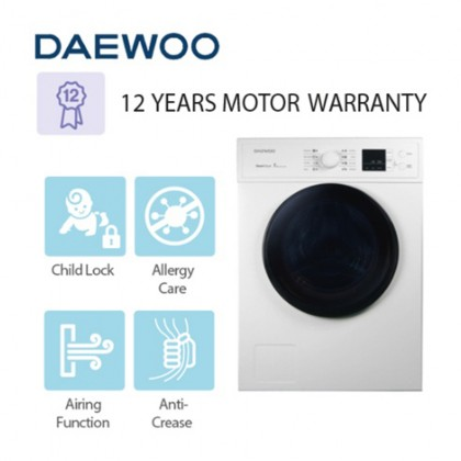 DAEWOO (7KG) Front Load Dryer Machine DWR-V700W